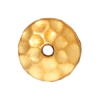 Bead Cap 6mm Hammered Gold